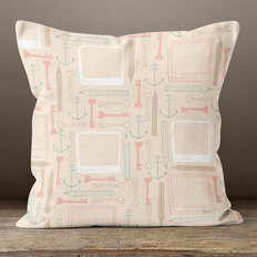 Pink Memories of Love Throw Pillow