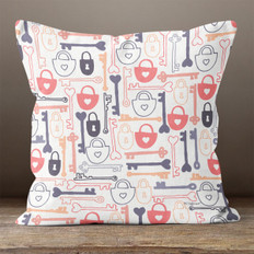White Key To My Heart Throw Pillow