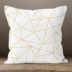 White Diamond Facets Throw Pillow