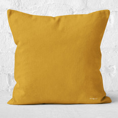 Yellow-Orange Throw Pillow