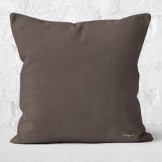 Brown-Grey Throw Pillow