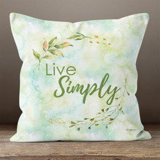 White Crystal Watercolor Live Simply Throw Pillow