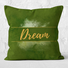 Green Watercolor Dream Throw Pillow