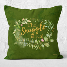Green Watercolor The Snuggle is Real Throw Pillow
