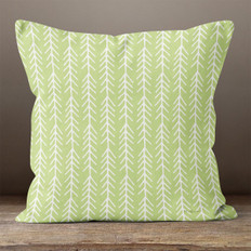 Light Green with White Connected Arrows Throw Pillow