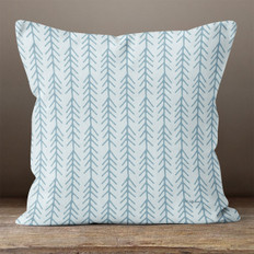 Light Blue with Blue Connected Arrows Throw Pillow