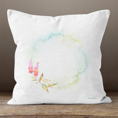 White Linen and Lilacs Throw Pillow