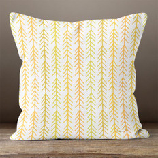 Cream with Fall Colored Connected Arrows Throw Pillow