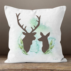 White Linen Forest Royalty Throw Pillow