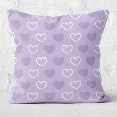 Lavender with Purple and White Hearts