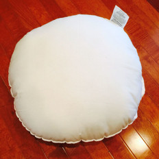 "26"" x 26"" x 3"" ROUND Polyester Non-Woven Indoor/Outdoor Box Pillow Form"