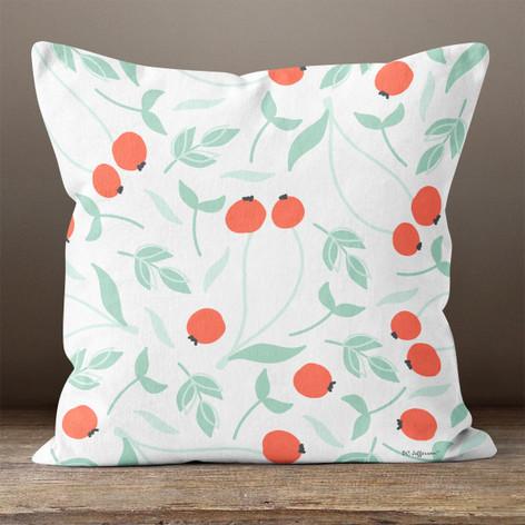 White Tomato Throw Pillow