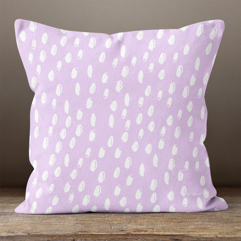 Light Lavender Abstract Dots Throw Pillow