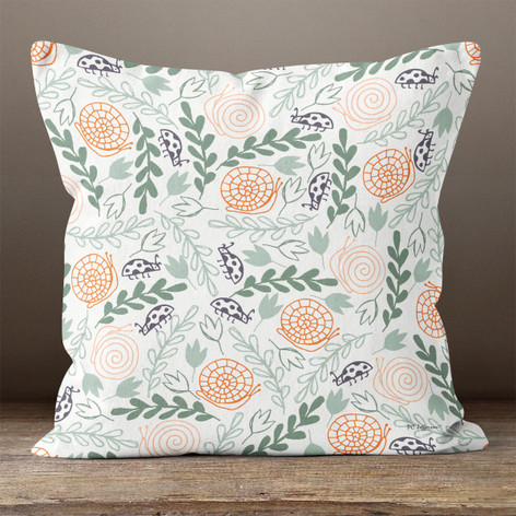 Ivory In The Garden Throw Pillow