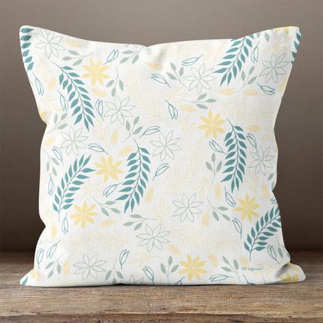 White Sunny Breezes Throw Pillow