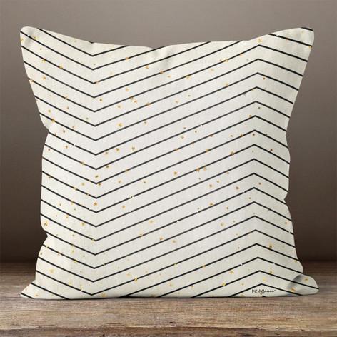 Black & Cream Large Chevron Throw Pillow