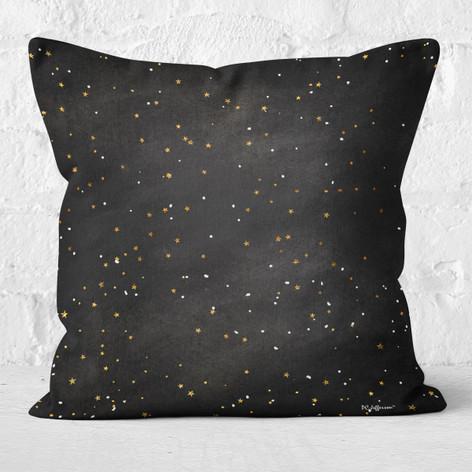 Black Winter Night Throw Pillow