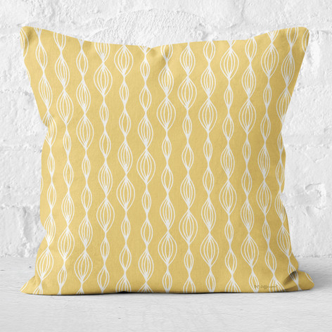 Gold with White Contemporary Throw Pillow