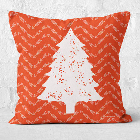 Red Arrows and White Tree 2 Throw Pillow