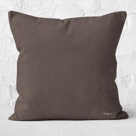 Brown-Grey Throw Pillow