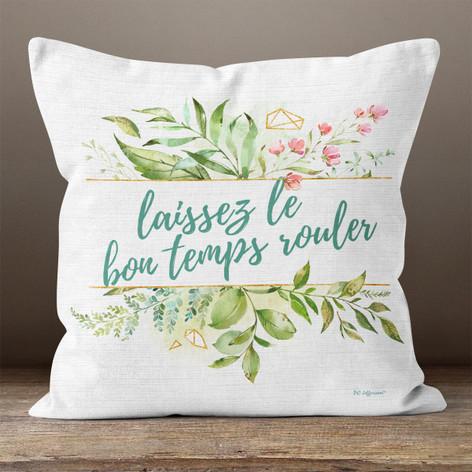 White Linen and Facet Bon Temps Throw Pillow