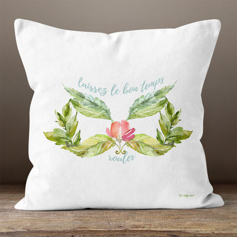 White Floral Mardi Gras Mask Throw Pillow