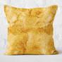 Gold Glitter Print Throw Pillow