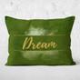 Green Watercolor Dream Throw Pillow