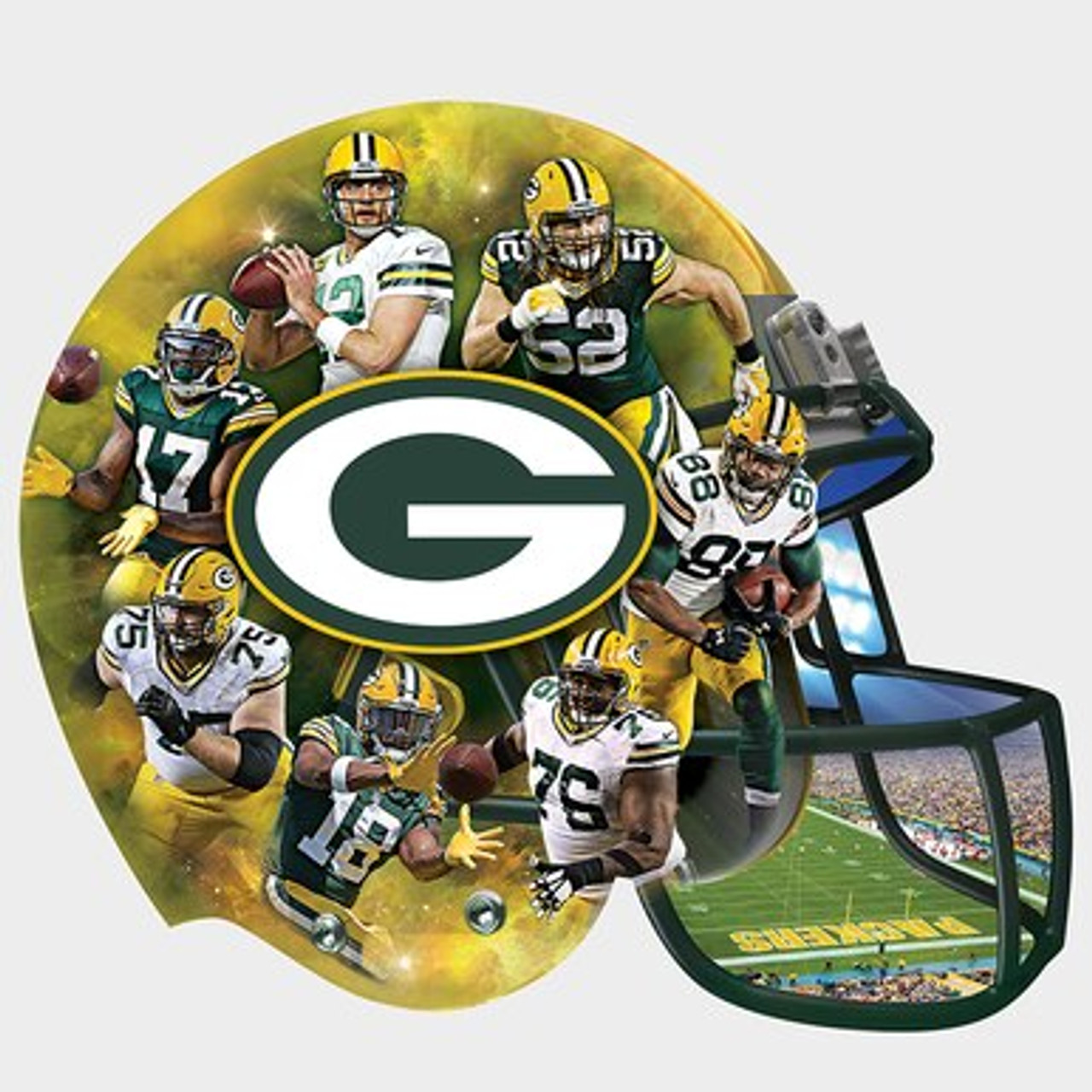8068a352c37 Helmet Shaped Puzzle - Green Bay Packers - WisconsinMade Artisan ...