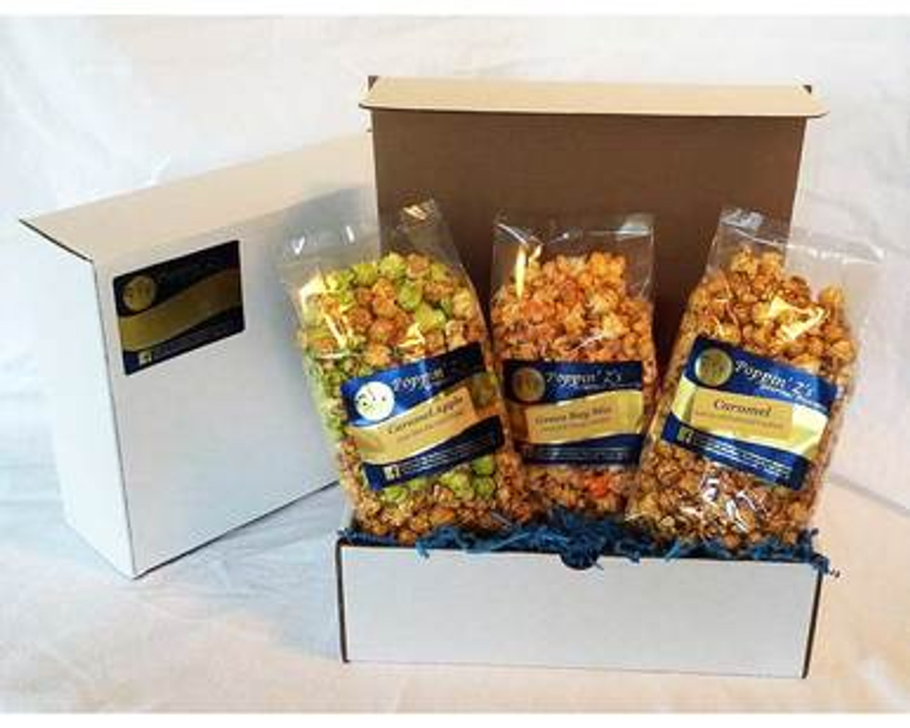 Caramel Lover's Popcorn Gift Pack by Poppin' Z's Gourmet Popcorn at WisconsinMade Artisan Collective