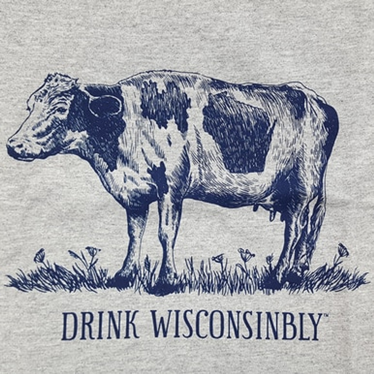 Drink Wisconsibly Cow T-Shirt on WisconsinMade Artisan Collective