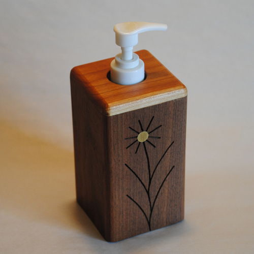 Black Walnut Wooden Soap Dispenser