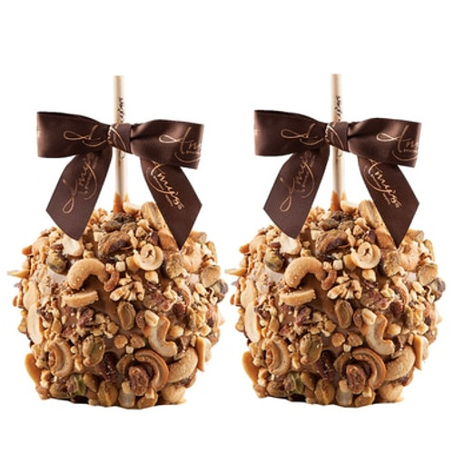 Gourmet Caramel Apples - Nut Covered - 2 pack