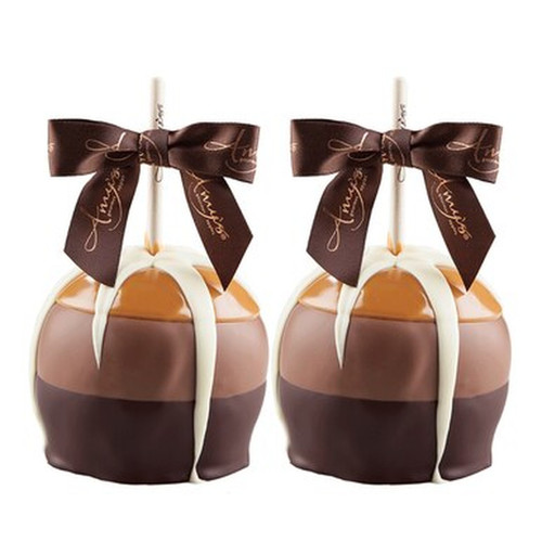 Gourmet Chocolate Caramel Apples  - Set of 2