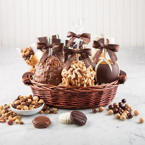 Gourmet Caramel Apple Decadent Gift Basket