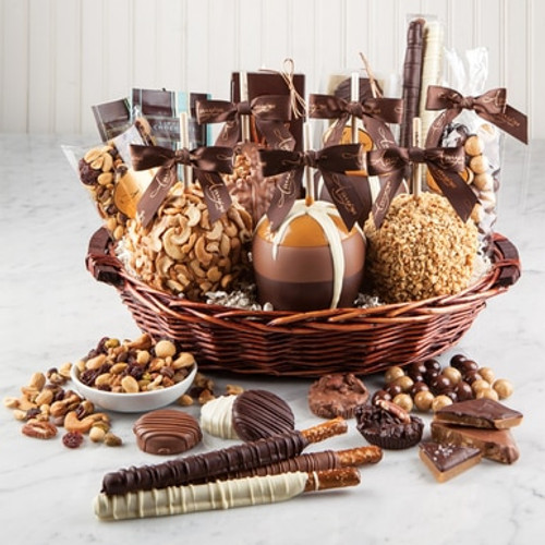 Gourmet Caramel Apple Deluxe Gift Basket available on WisconsinMade Artisan Collective