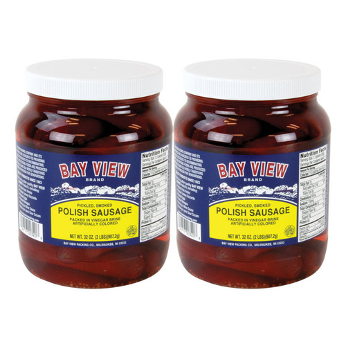 Pickled Polish Sausage - 2 Jars