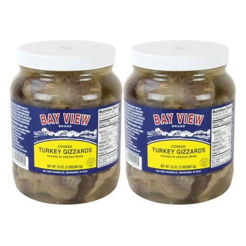 Pickled Turkey Gizzards - 2 Jars