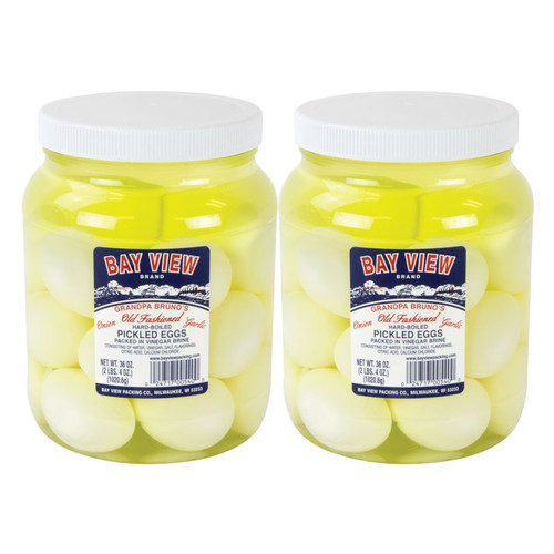 Grandpa Brunos Garlic and Onion Pickled Eggs - 2 Jars