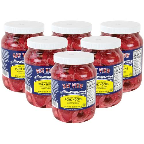 Bay View Pickled Pork Hocks - Case of 6 Jars