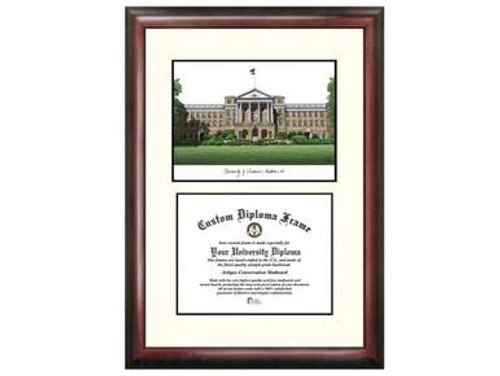 Framed  Diploma Holder with Bascom Hall Print