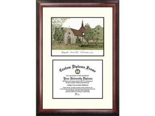 Marquette University Lithograph Print with Diploma