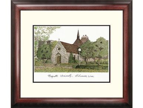 Marquette University Lithograph Print - Matted and