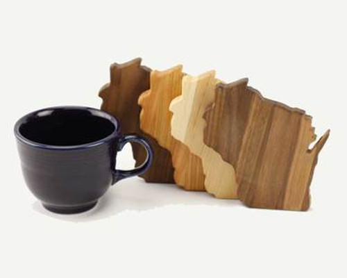 Wisconsin State Coasters - Variety of Woods