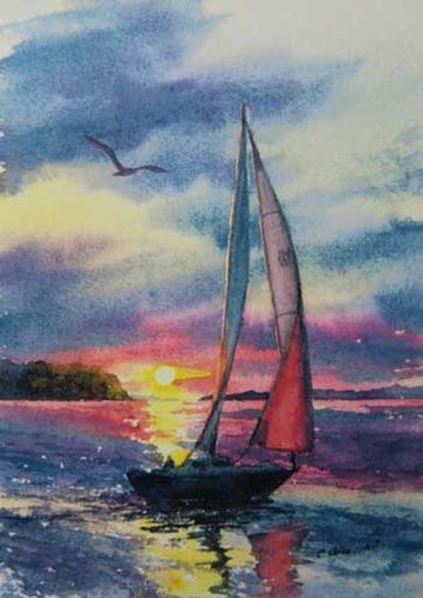 Door County Giclee Print - Sunset Sail