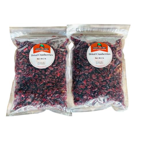 Door County Cherryland's Best, Sweetened Dried Cranberries - Two 2 lb. Packs