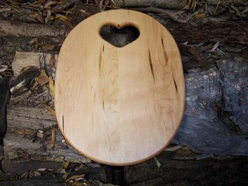 Country Heart Wood Cutting Board
