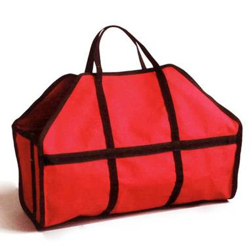 Jumbo Canvas Log Carrier - Red