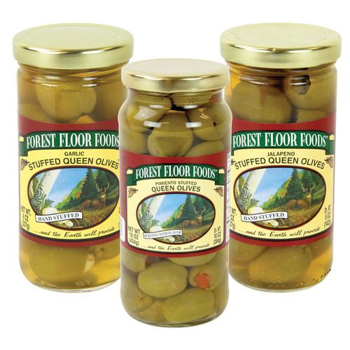 Forest Floor Foods Gourmet Specialty Stuffed Olives - 3 jars