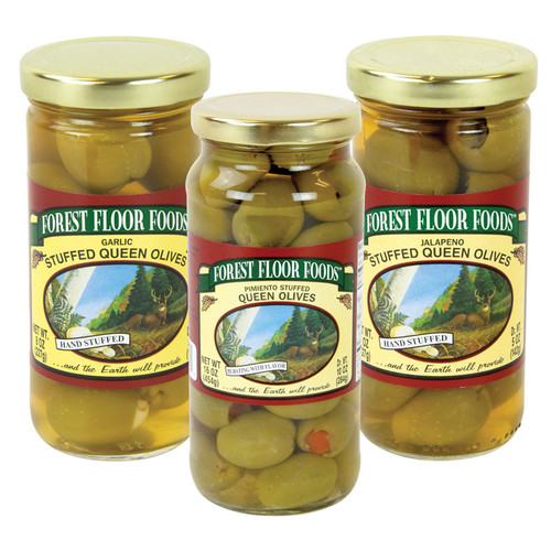 Forest Floor Foods Gourmet Specialty Stuffed Olives - 3 jars